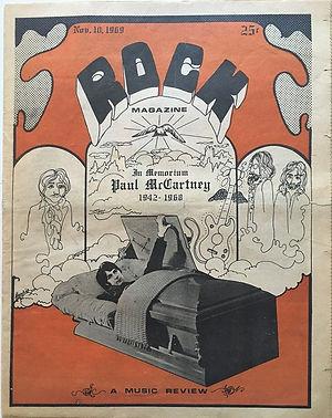 jimi hendrix newspape 1969/rock november 10,  1969
