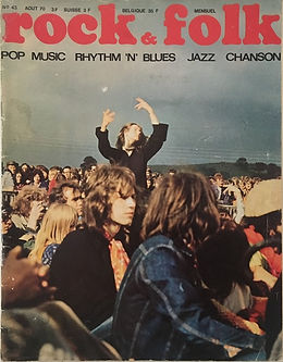 jimi hendrix magazines 1970 / rock & folk  august  1970