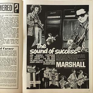 jimi hendrix collector magazine/memorabilia/AD marshall/beat instrumental september 1967