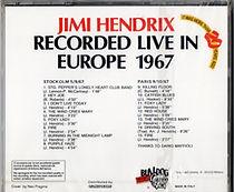 jimi hendrix collector bootlegs cd/jimi hendrix recorded live in europe 1967