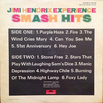 jimi hendrix rotily vinyl/smash hits
