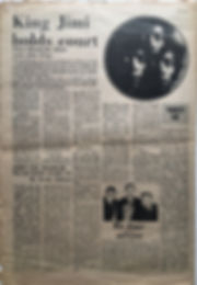 jimi hendrix newspaper 1969/ top pops march 8 1969/king jimi holds court