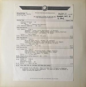 jimi hendrix vinyls radio show / greatest rock festivals / september/october 1982
