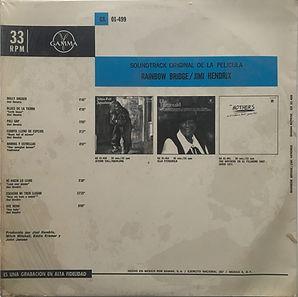 jimi hendrix album vinyls/rainbow bridge 1971 mexico
