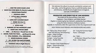 jimi hendrix cd/electric ladyland usa 1987