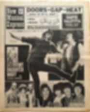 jimi hendrix newspaper 1968/new musical express october 19 1968