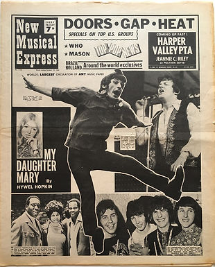 jimi hendrix newspaper 1968/new musical express october 19 1968