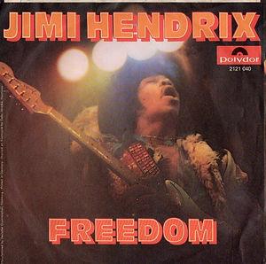 jimi hendix singles vinyls/freedom 1971 polydor