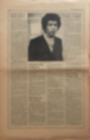 jimi hendrix newspaper 1970 / rolling stone jan. 30 1970