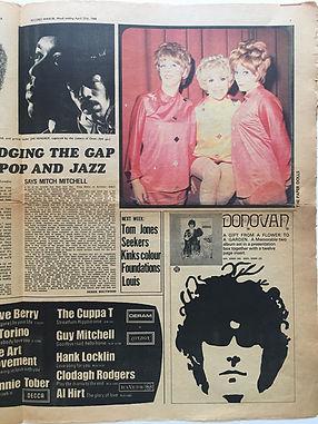 mitch mitchell / interview record mirror 27/4/1968 jimi hendrix newspaper collector