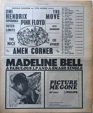jimi hendrix collector newspapers/new musical express 28/10/1967