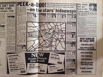 jim hendrix newspaper/ disc music echo /11/2/67