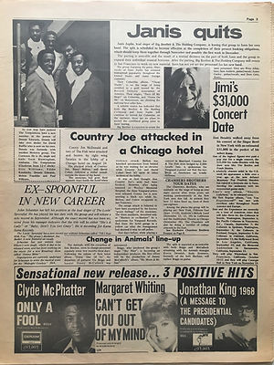 jimi hendrix newspaper/go september 6 1968