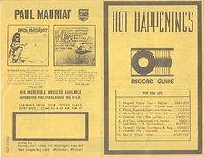 jimi hendrix flyer collecor/hot appenings 1967