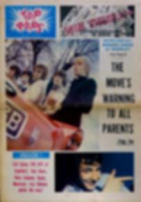 jii hendrix newspapers 1967/top pops N°1 1967