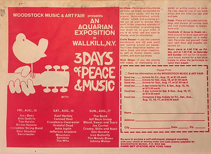 jimi hendrix collector memorabilia/woodstock advertising