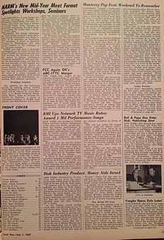 jimi hendrix rotily newspapers/cash box  1/7/1967