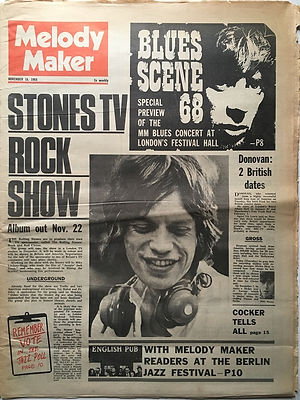 jimi hendrix newspaper 1968/ melody maker november 16/1968