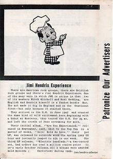jimi hendrix memorabilia 1969/program  may 7 1969 memorial colisium