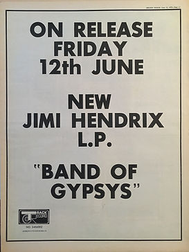 jimi hendrix rotily memorabilia collector/ ad band of gypsys