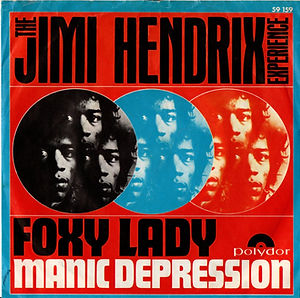 jimi hendrx collector singles vinyls/foxy lady manic depression polydor italy