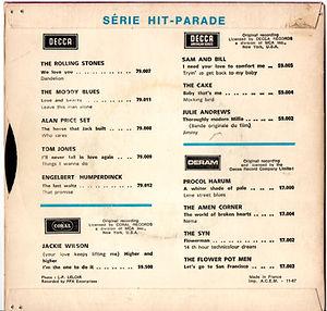 jimi hendrix rotily collector single vinyls 45t /7 / hush now flashing france 1967