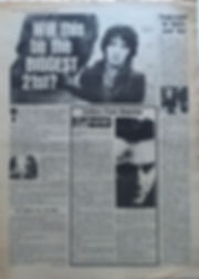 "jimi hendrix newspaper 1969/record mirror october 4, 1969 ""people expect the hendrix sound"" noel"