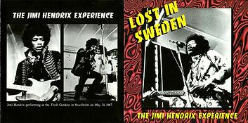 jim hendrix bootleg cds/2cds 1967/68 lost in sweden 1996