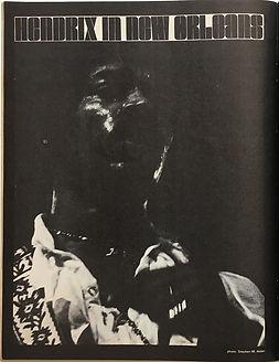 jimi hendrix magazine 1968/disco scene hendrix in new orleans