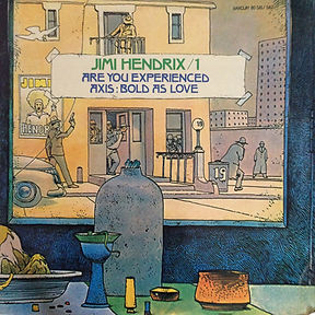 jimi hendrix collector vinyls/ reissue are you experienced/axis bold as love france 1975  2lps