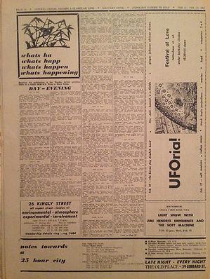 jimi hendrix newspaper 1967 /  it  feb.13, 1967