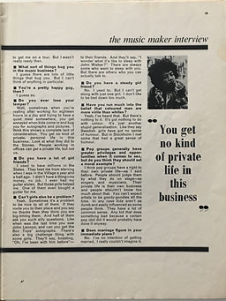 jimi hendrix  magazine/ music  maker february 1968 interview part 6