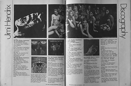jimi hendrix magazines 1970 death /  record buyer nov. 1970 : discography