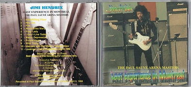 jimi hendrix bootlegs cds/last experience in montreal