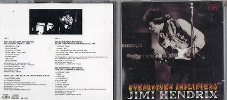 jimi hendrix bootlegs cd / overdriven amplifiers 2cd