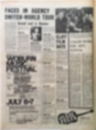 jimi hendrix newspaper/melody maker/ AD:woburn music festival july 6&7
