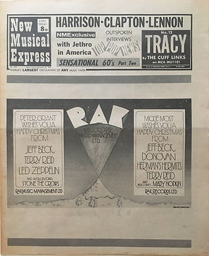 jimi hendrix newspapers 1969/new musical express , december 20, 1969 : new hendrix group