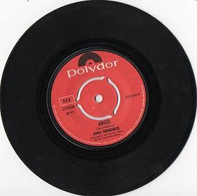 jimi hendrix vinyls singles/angel polydor norway 1971