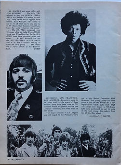 jimi hendrix magazines 168/hullabaloo august 1968