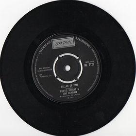 jimi hendrix collector vinyls singles/ballad of jimi /norway 1970