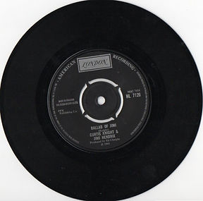 jimi hendrix collector vinyls singles / ballad of jimi  1970