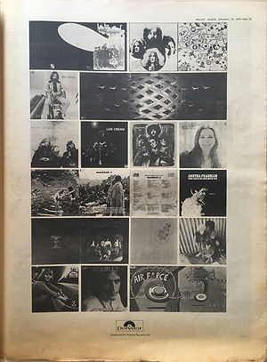 jimi hendrix newspaper 1970 / melody maker : sept.19, 1970