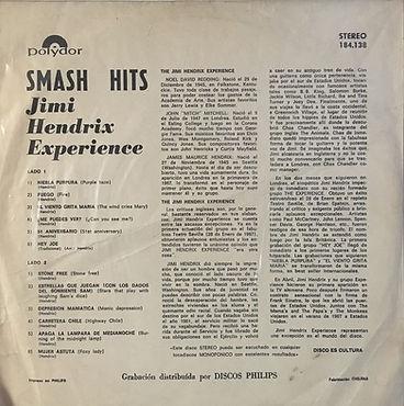 jimi hendrix rotily vinyls albums lps/ smash hits