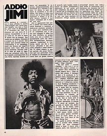jimi hendrix magazines 1970 death/ ciao 2001 sept 30, 1970 / addio jimi