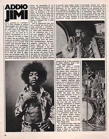 jimi hendrix magazines 1970 death/ ciao 2001 sept 30, 1970 / addio jimi