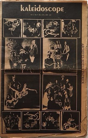 jimi hendrix newspaper collector/kaleidoscope 8/21 december1967 pop jimi hendrix
