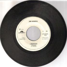 jimi hendrix vinyls singles/liberta freedom mexico