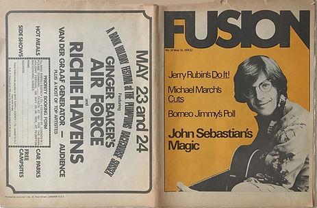 jimi hendrix newspapers 1970 / fusion  may 15, 1970,
