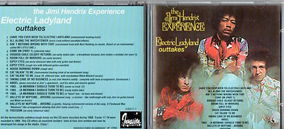 jimi hendrix cd bootlegs/electric ladyland outtakes