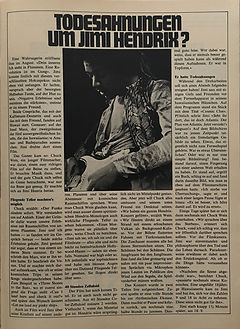 jimi hendrix collector magazines 1970/ pop december 1970